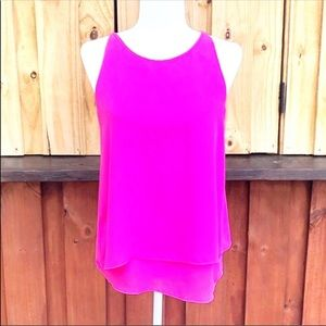 Cynthia Rowley Pink Sleeveless Shirt Size S